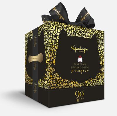 Panettone Língua de Gato da Kopenhagen ganha destaque com embalagem premium